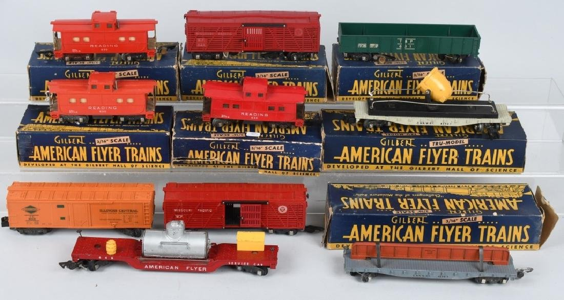 10-AMERICAN FLYER ROLLING STOCK, SEVERAL BOXED