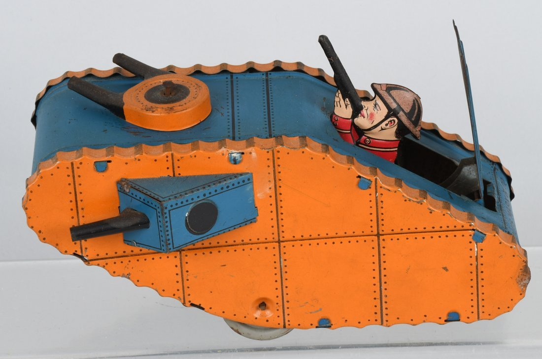 MARX tin windup DOUGHBOY TANK, BOXED - 2