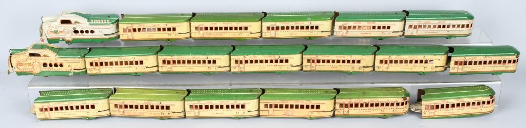 3- MARX UNION PACIFIC STREAMLINER TRAIN SETS