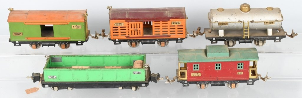 LIONEL O GAUGE 262 ENGINE & 5 FREIGHT CARS - 4