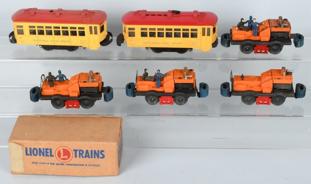 LIONEL GANG CARS & TROLLEYS