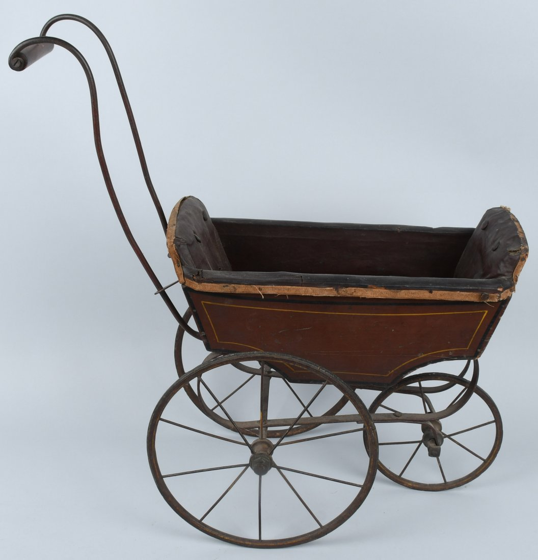 FRANZ SCHMIDT BISQUE DOLL  w/ CARRIAGE - 6