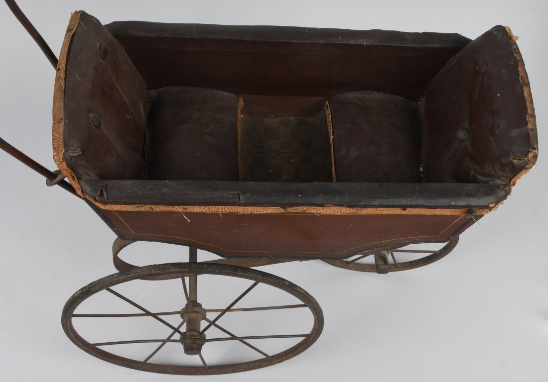 FRANZ SCHMIDT BISQUE DOLL  w/ CARRIAGE - 8