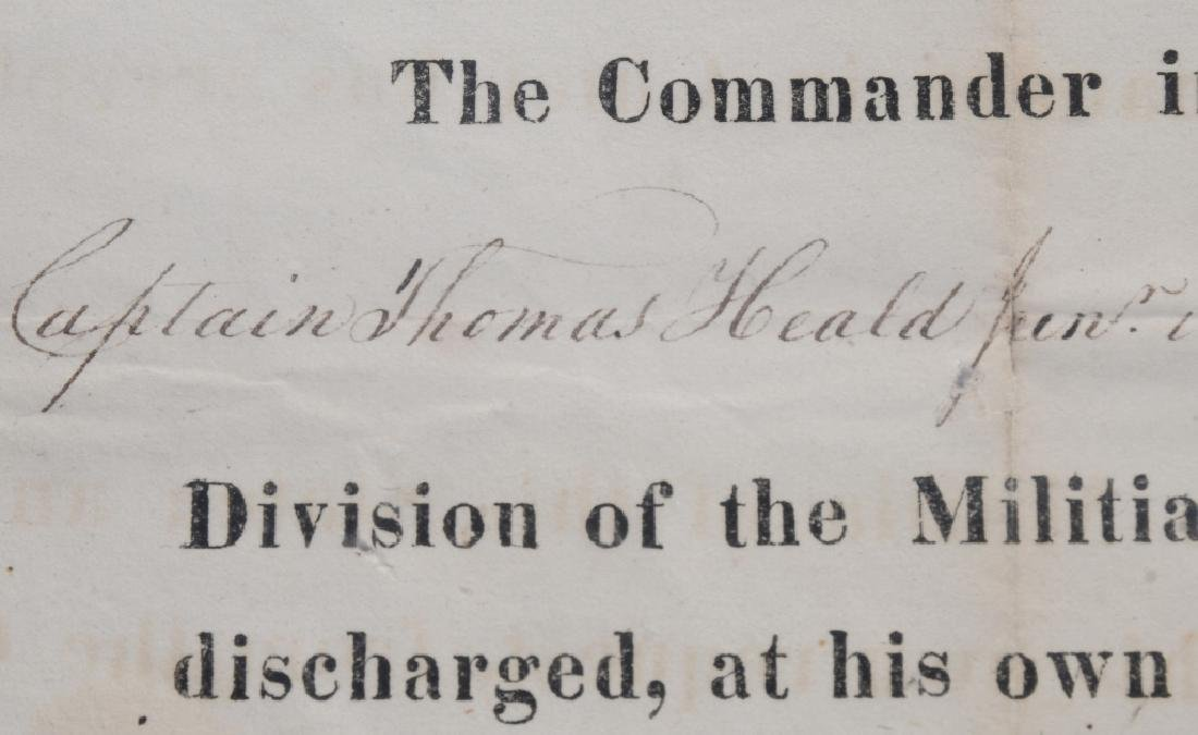 1824 MAINE MILITIA DOCUMENT - WITH STATE SEAL - 4