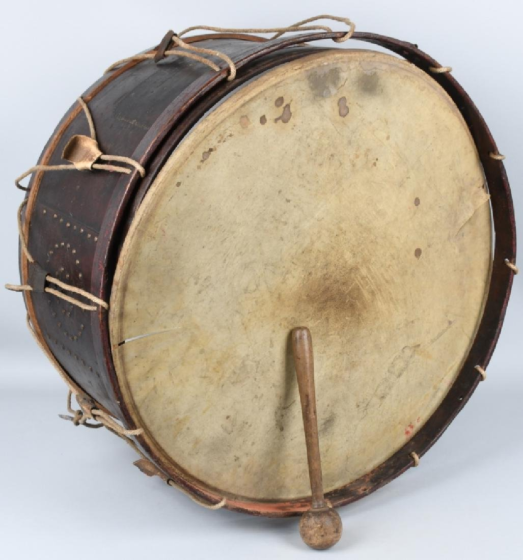 PRE CIVIL WAR - CIVIL WAR PERIOD BASS TACK DRUM