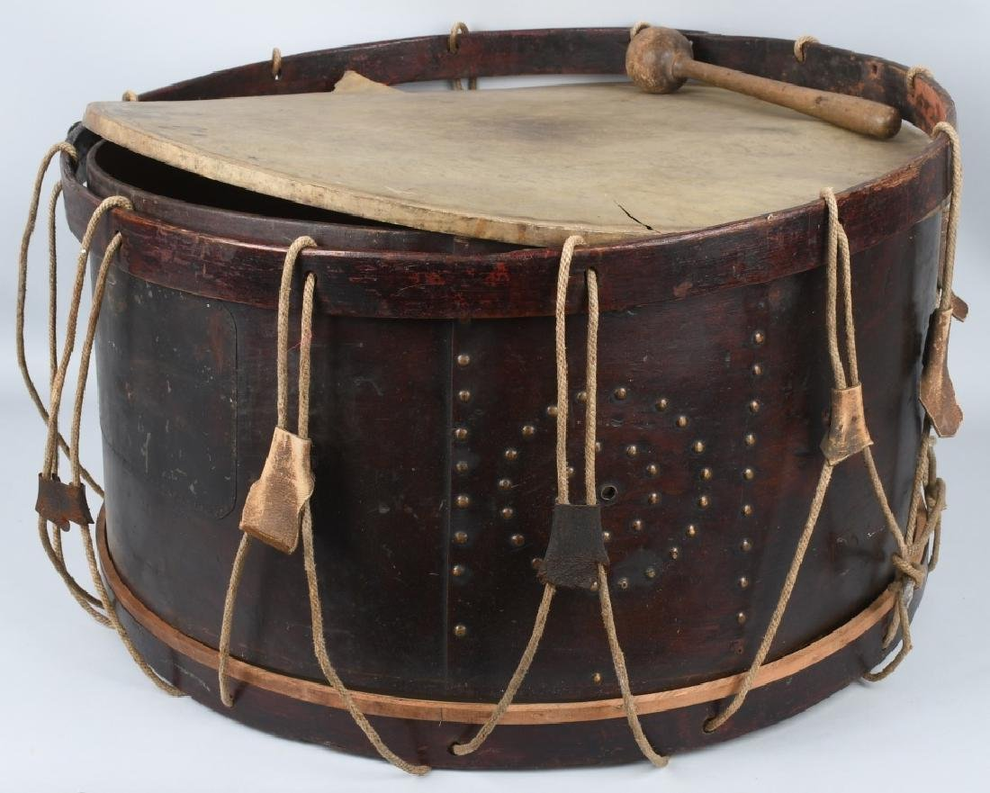 PRE CIVIL WAR - CIVIL WAR PERIOD BASS TACK DRUM - 3
