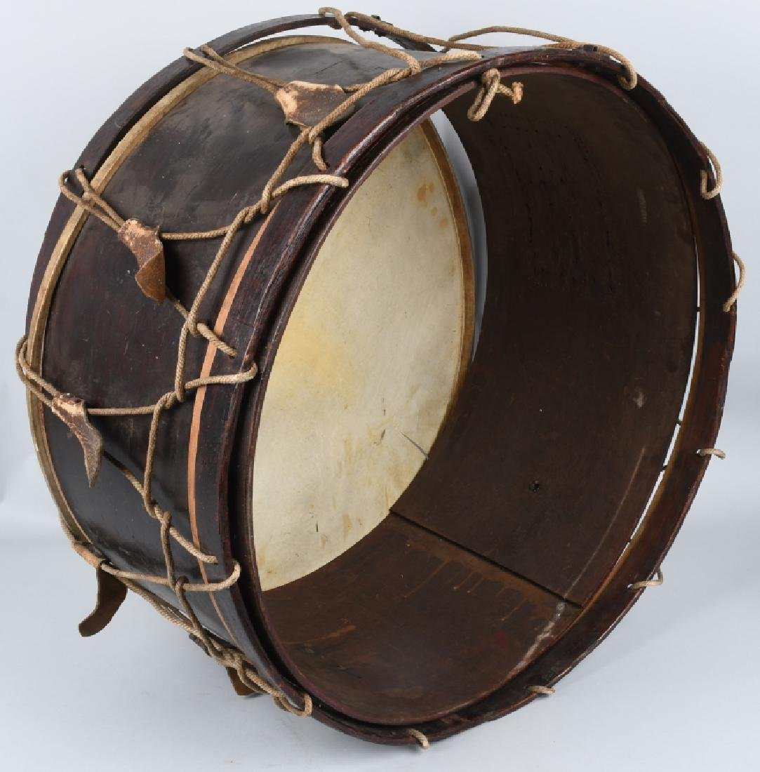 PRE CIVIL WAR - CIVIL WAR PERIOD BASS TACK DRUM - 4