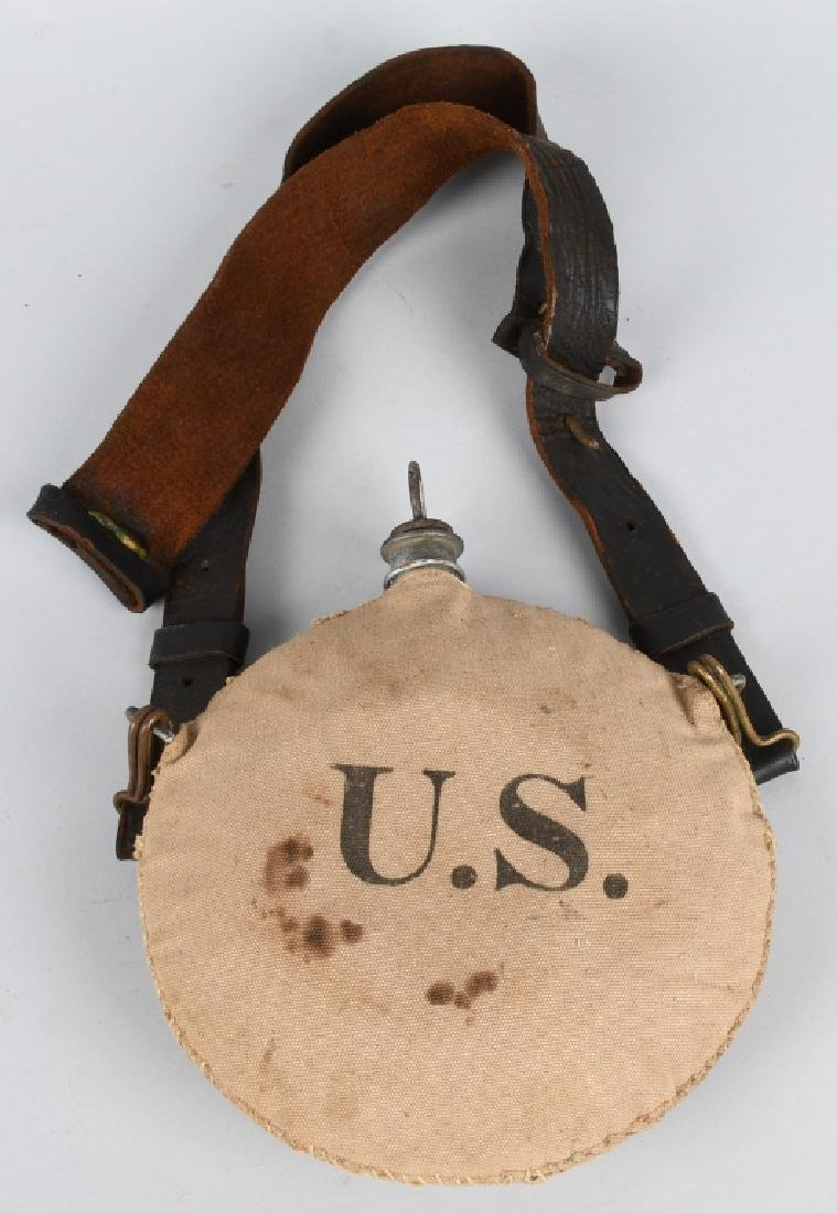 SPANISH AMERICAN WAR CANTEEN & BELT