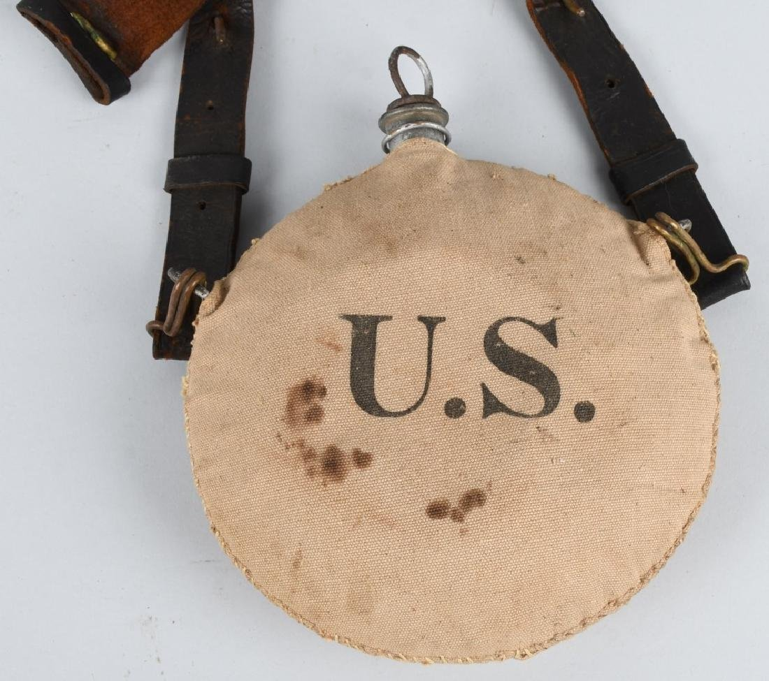 SPANISH AMERICAN WAR CANTEEN & BELT - 2