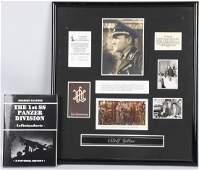 WWII NAZI GERMAN SEPP DIETRICH AUTOGRAPHED PHOTO