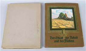 WWII NAZI GERMAN CIGARETTE ALBUM W SHIPPING CASE