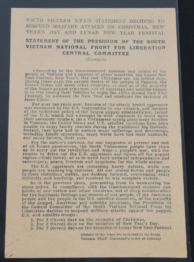 VIETNAM WAR - NORTH VIETNAMESE PROPAGANDA LEAFLETS - 11