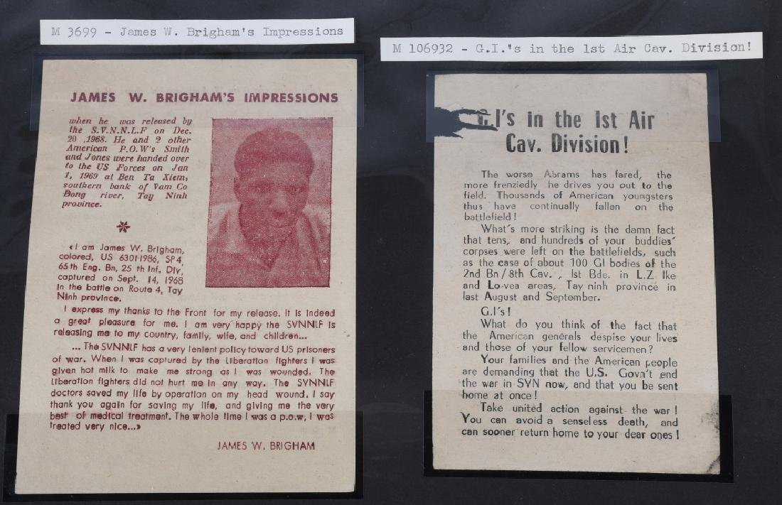VIETNAM WAR - NORTH VIETNAMESE PROPAGANDA LEAFLETS