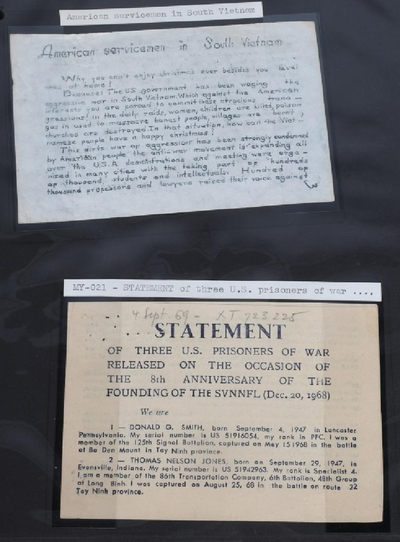 VIETNAM WAR - NORTH VIETNAMESE PROPAGANDA LEAFLETS - 3