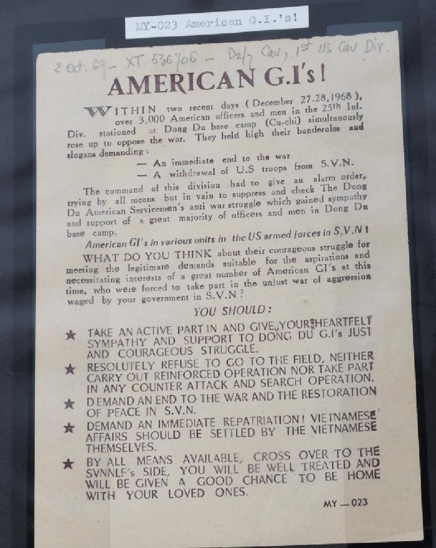 VIETNAM WAR - NORTH VIETNAMESE PROPAGANDA LEAFLETS - 4