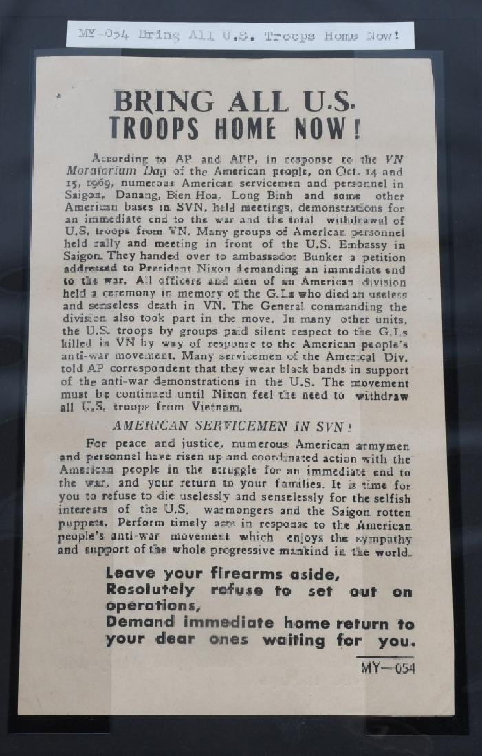 VIETNAM WAR - NORTH VIETNAMESE PROPAGANDA LEAFLETS - 5