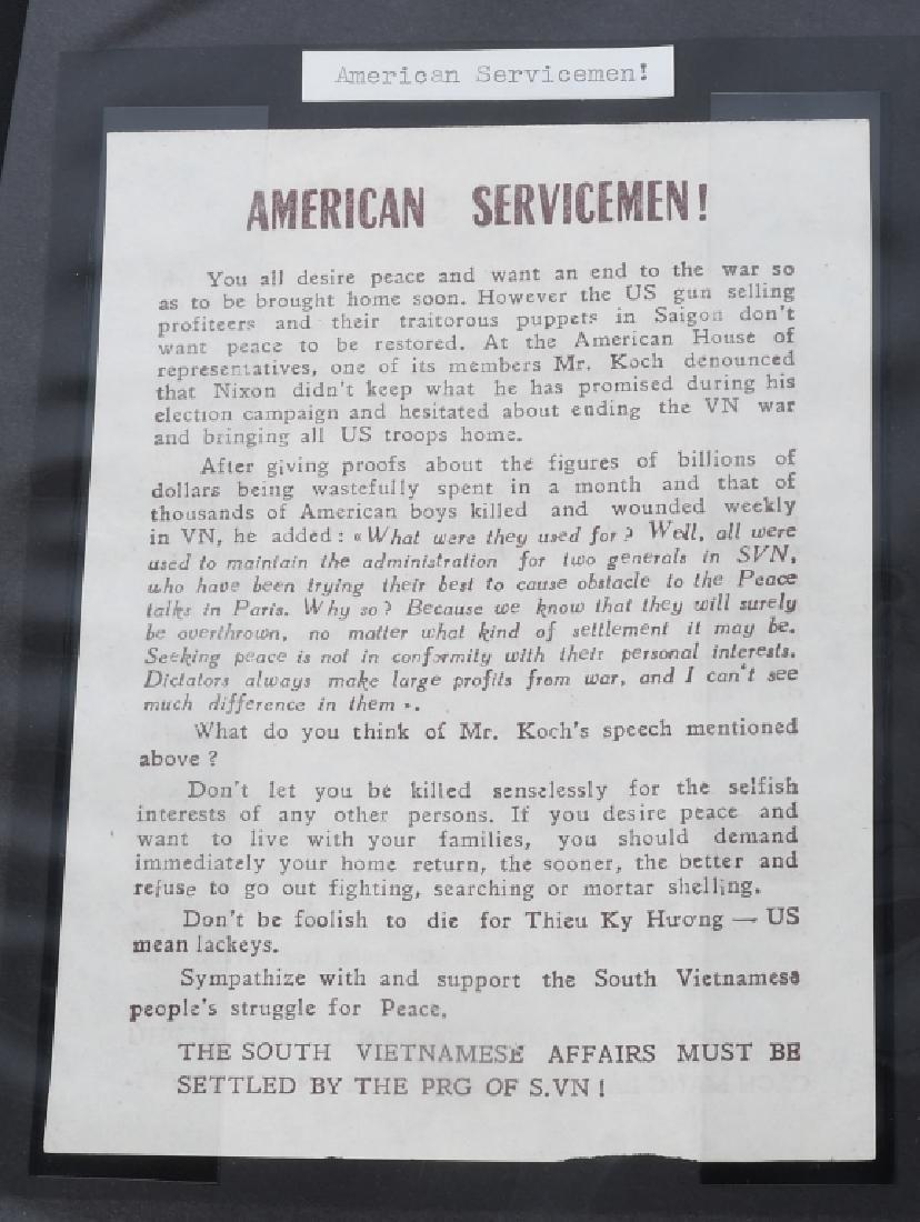 VIETNAM WAR - NORTH VIETNAMESE PROPAGANDA LEAFLETS - 6