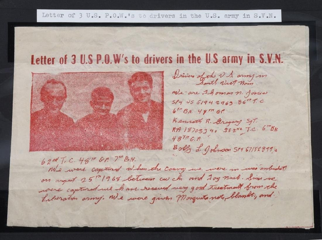 VIETNAM WAR - NORTH VIETNAMESE PROPAGANDA LEAFLETS - 7