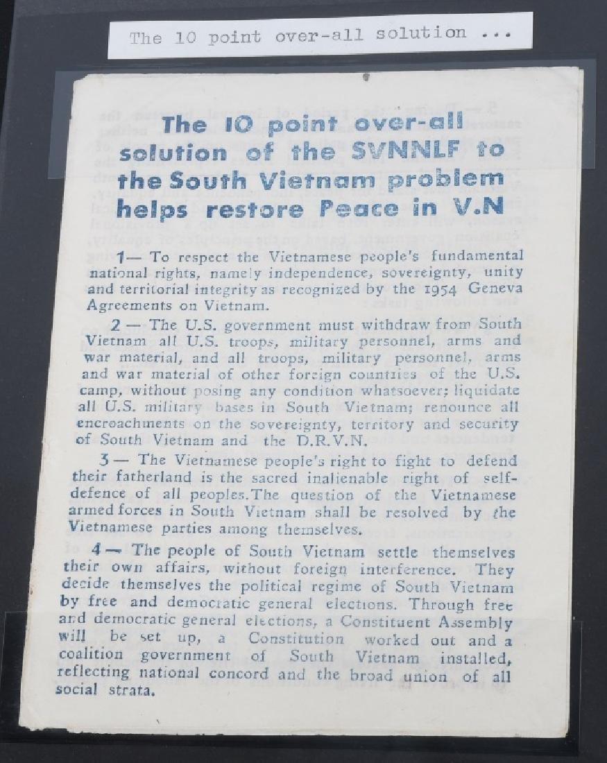 VIETNAM WAR - NORTH VIETNAMESE PROPAGANDA LEAFLETS - 9