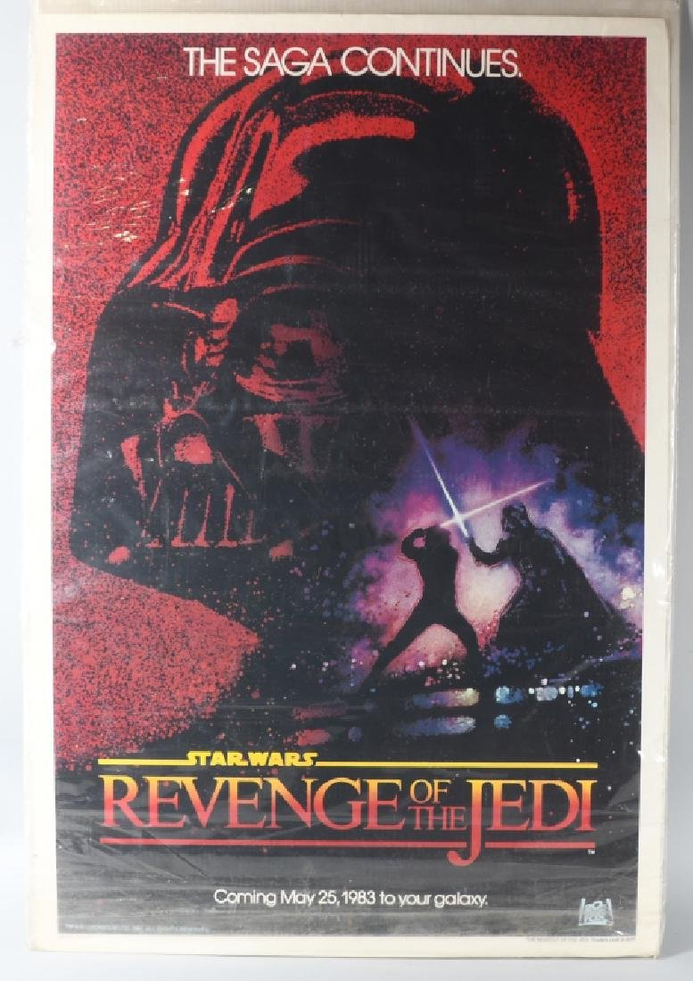 1982 STAR WARS ROTJ TEASER MOVIE POSTER