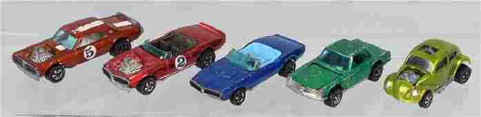 5- VINTAGE REDLINE HOT WHEELS CARS