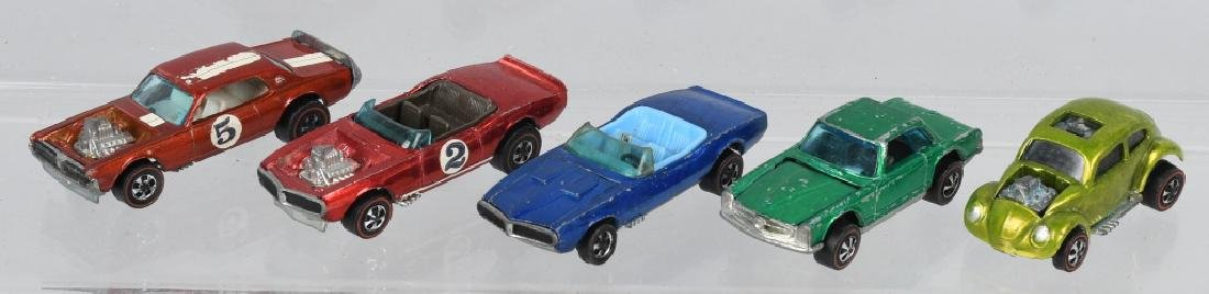 5- VINTAGE REDLINE HOT WHEELS CARS