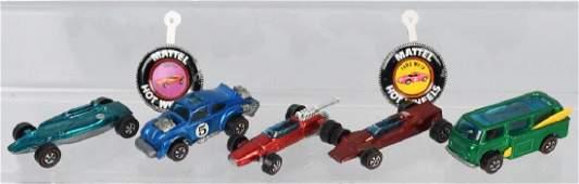 5- VINTAGE REDLINE HOT WHEELS CARS & MORE