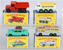 4- 1960s VINTAGE LESNEY MATCHBOX CARS w/ BOXES