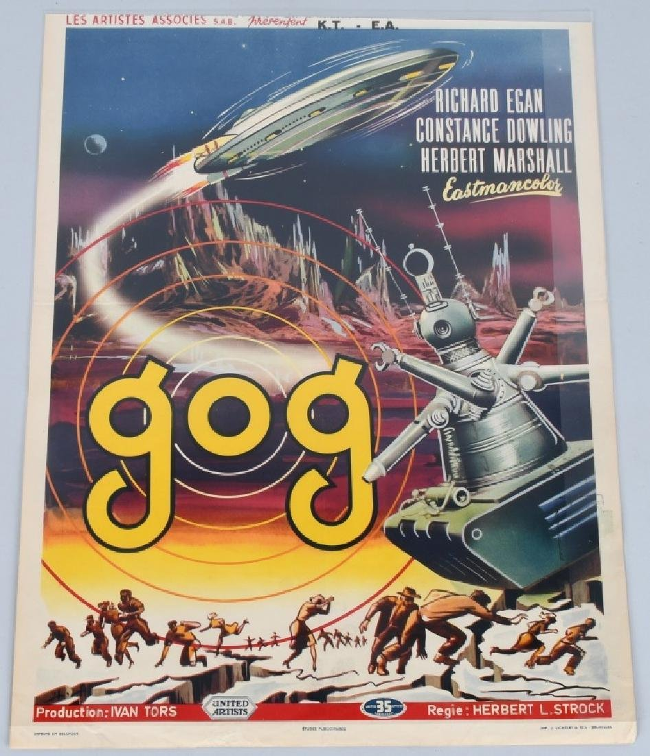 "1954 SCI-FI MOVIE ""GOG"" MOVIE POSTER"