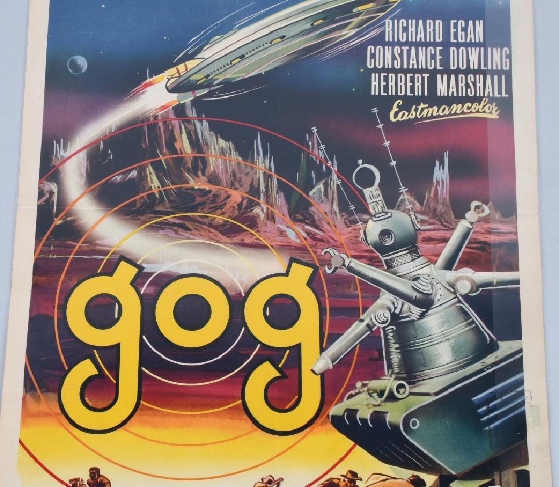 "1954 SCI-FI MOVIE ""GOG"" MOVIE POSTER - 3"