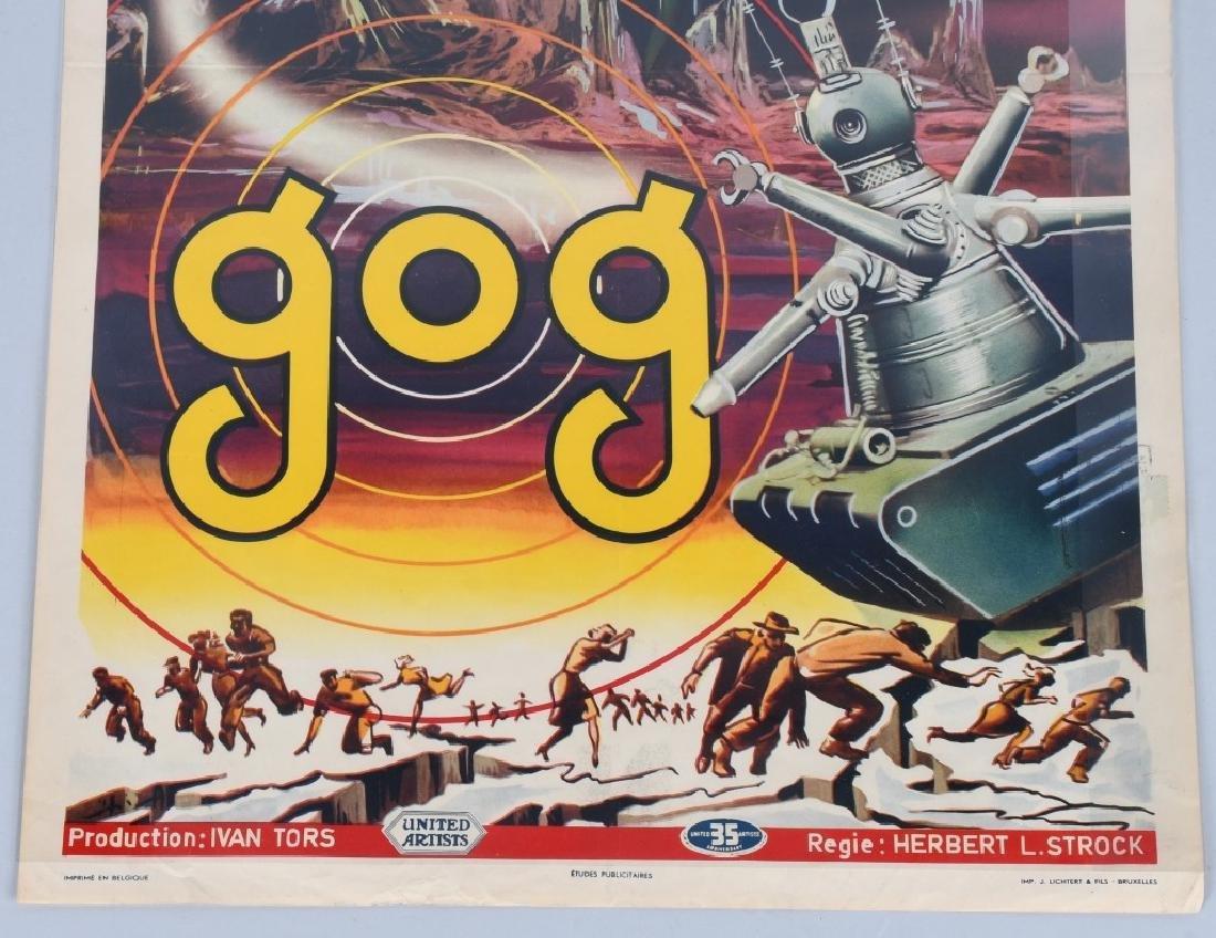 "1954 SCI-FI MOVIE ""GOG"" MOVIE POSTER - 4"
