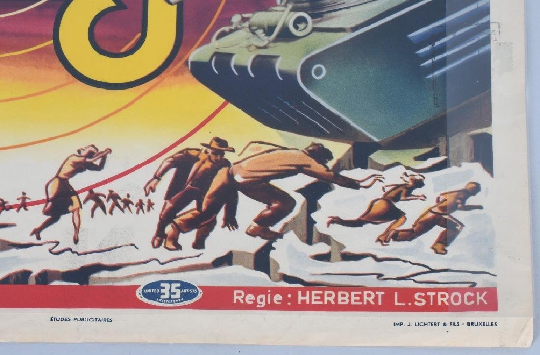 "1954 SCI-FI MOVIE ""GOG"" MOVIE POSTER - 6"