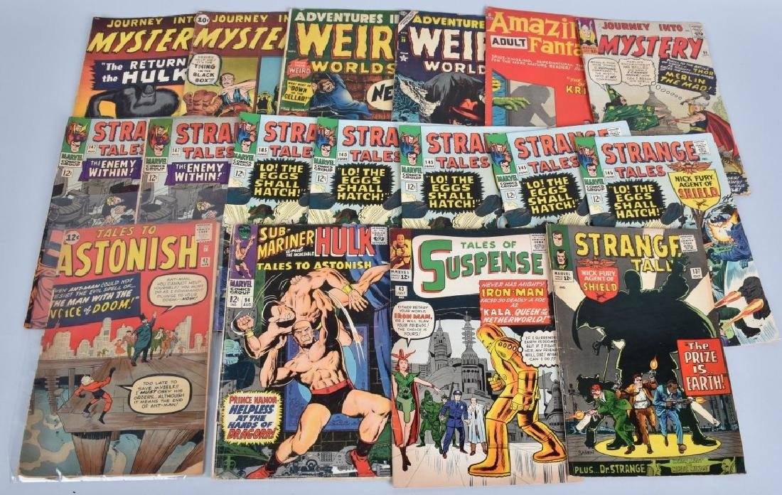 17 MISC EARLY MARVEL COMICS 1950 -1960s