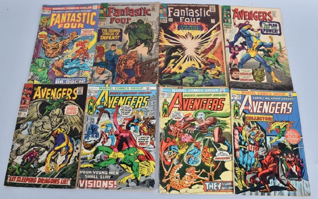 30 Misc MARVEL AVENGERS X-MEN FANTASTIC FOUR 60-70 - 3
