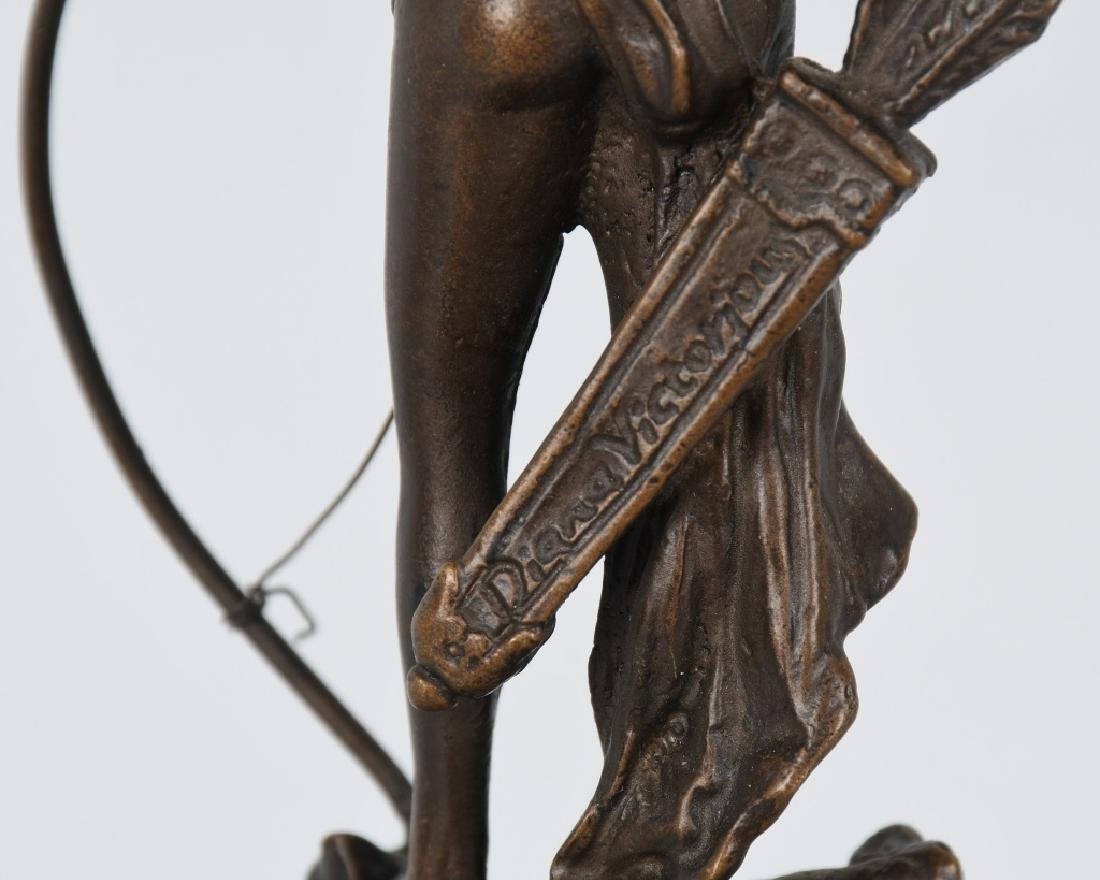 BRONZE DIANA VICTORIOUS ARCHER on BOAR - 7