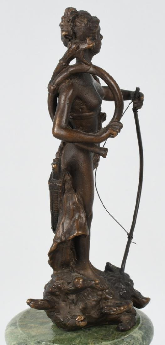 BRONZE DIANA VICTORIOUS ARCHER on BOAR - 8