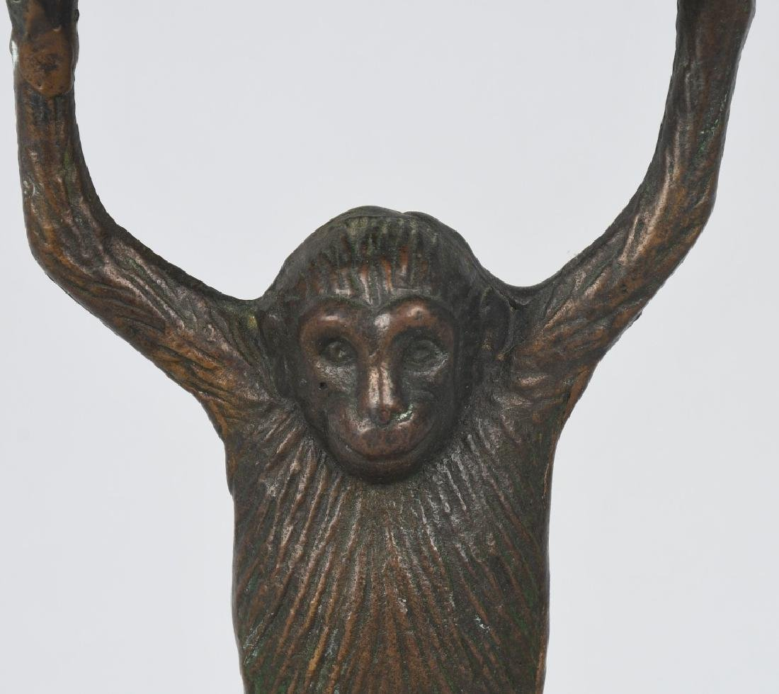 BRONZE MONKEY & TRAY BUSINESS CARD HOLDER - 2