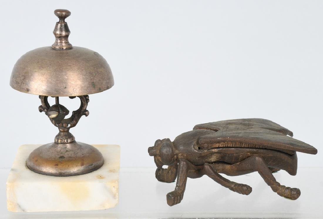 HOTEL DESK BELL & FIGURAL FLY MATCH SAFE