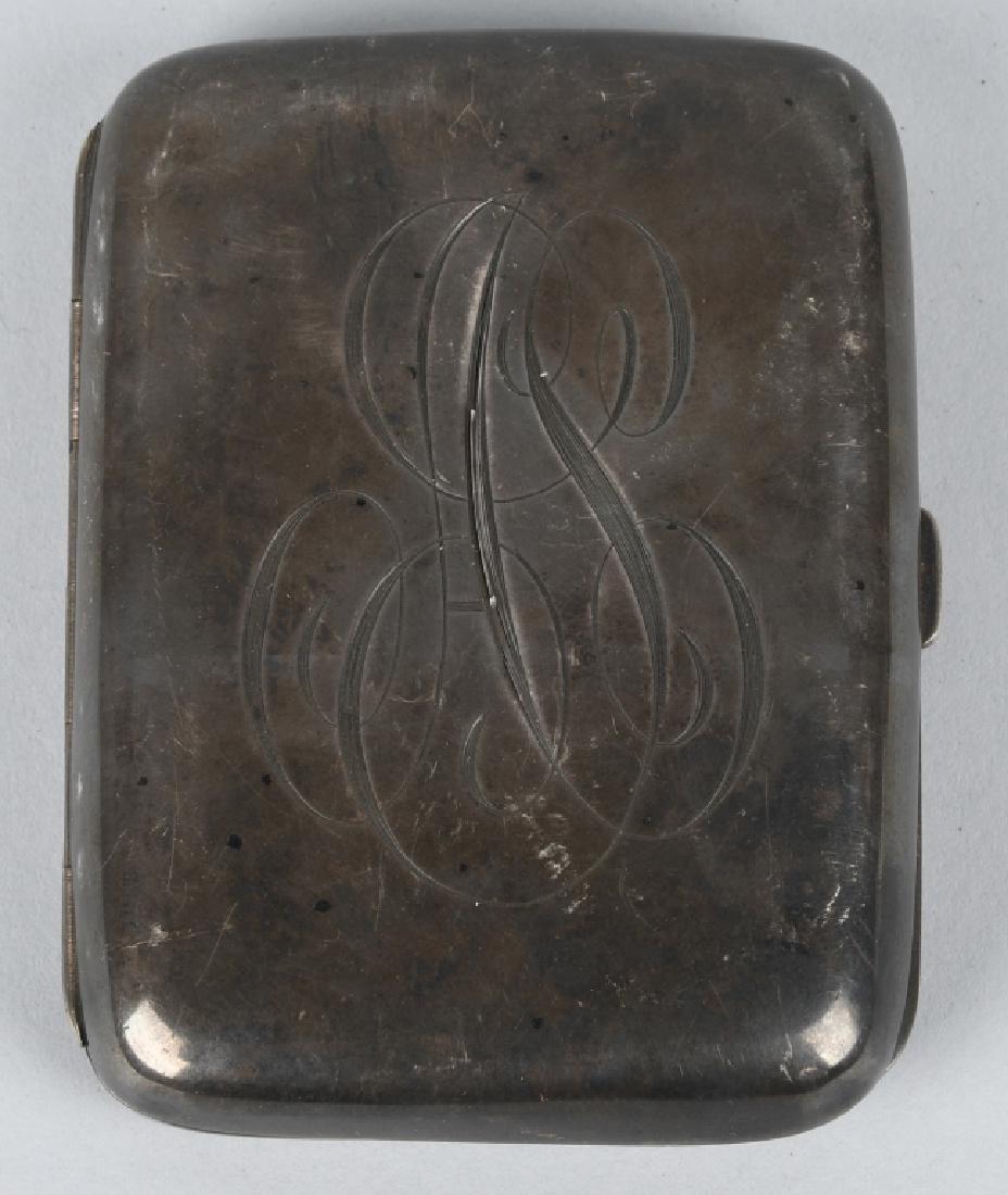 19th CENT. HENRY WILKINSON SILVER CIGARETTE CASE