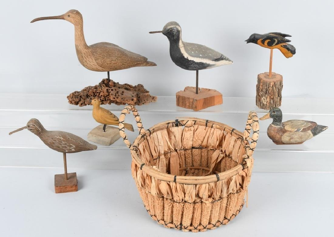 LOT of CARVED SAND PIPER BIRDS and MORE
