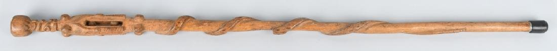 1916 CARVED FOLK ART CANE