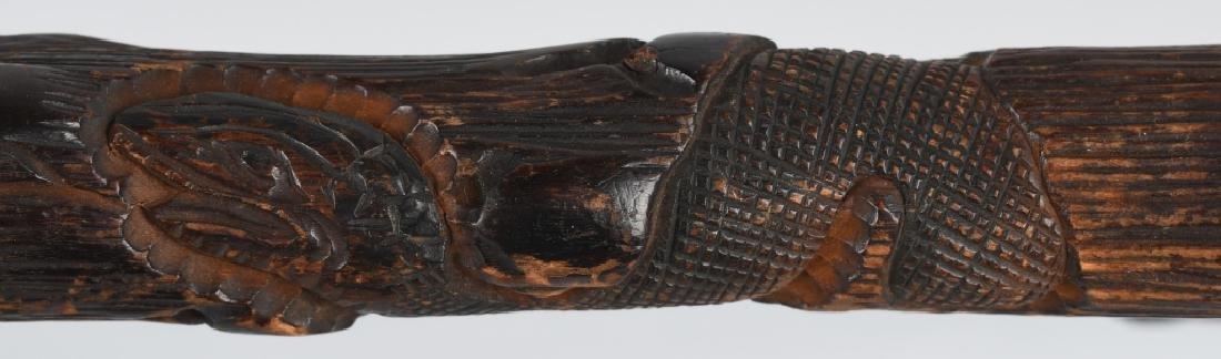 2-CARVED FOLK ART CANES - 6