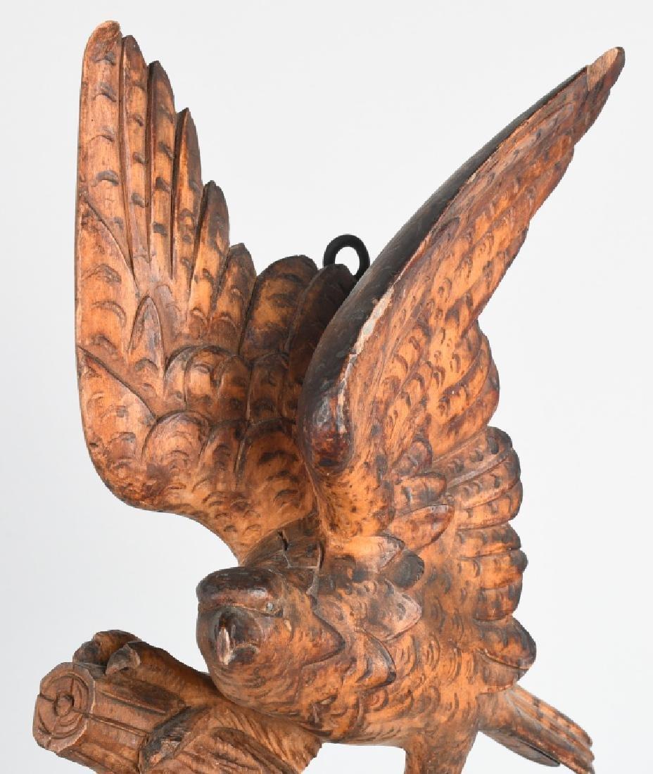 FOLK ART CARVED EAGLE COAT HOOK - 4