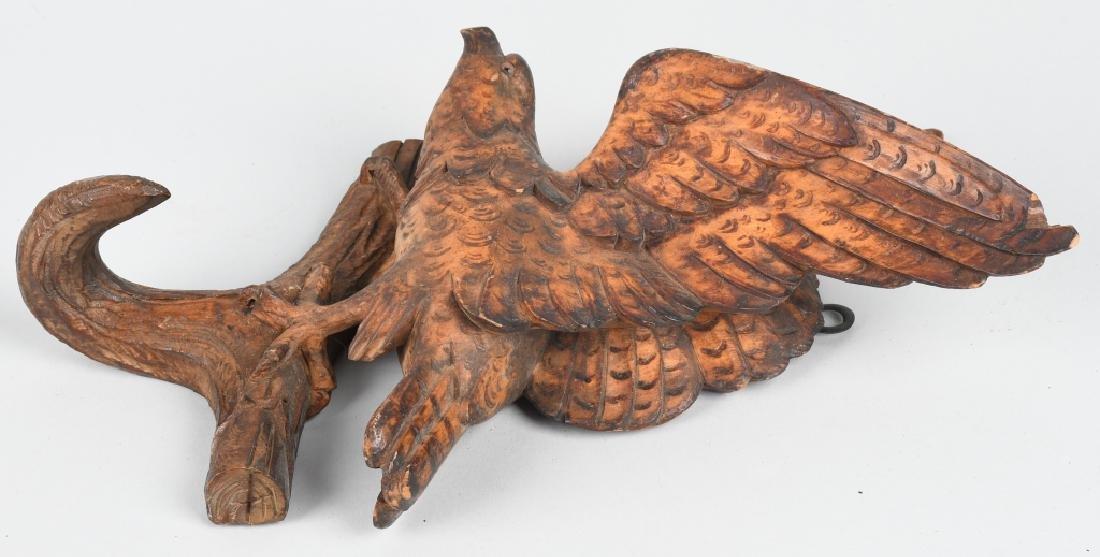 FOLK ART CARVED EAGLE COAT HOOK - 7