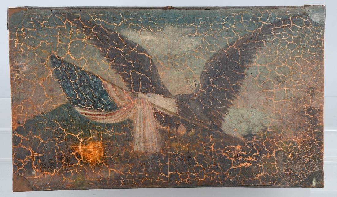 FOLK ART AMERICAN EAGLE PAINTED WOOD BOX