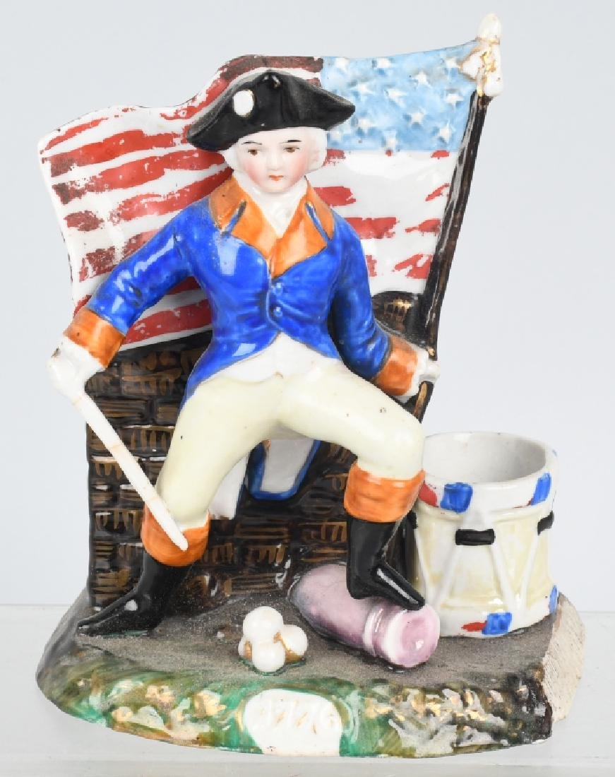 GEORGE WASHINGTON & FLAG MATCH HOLDER