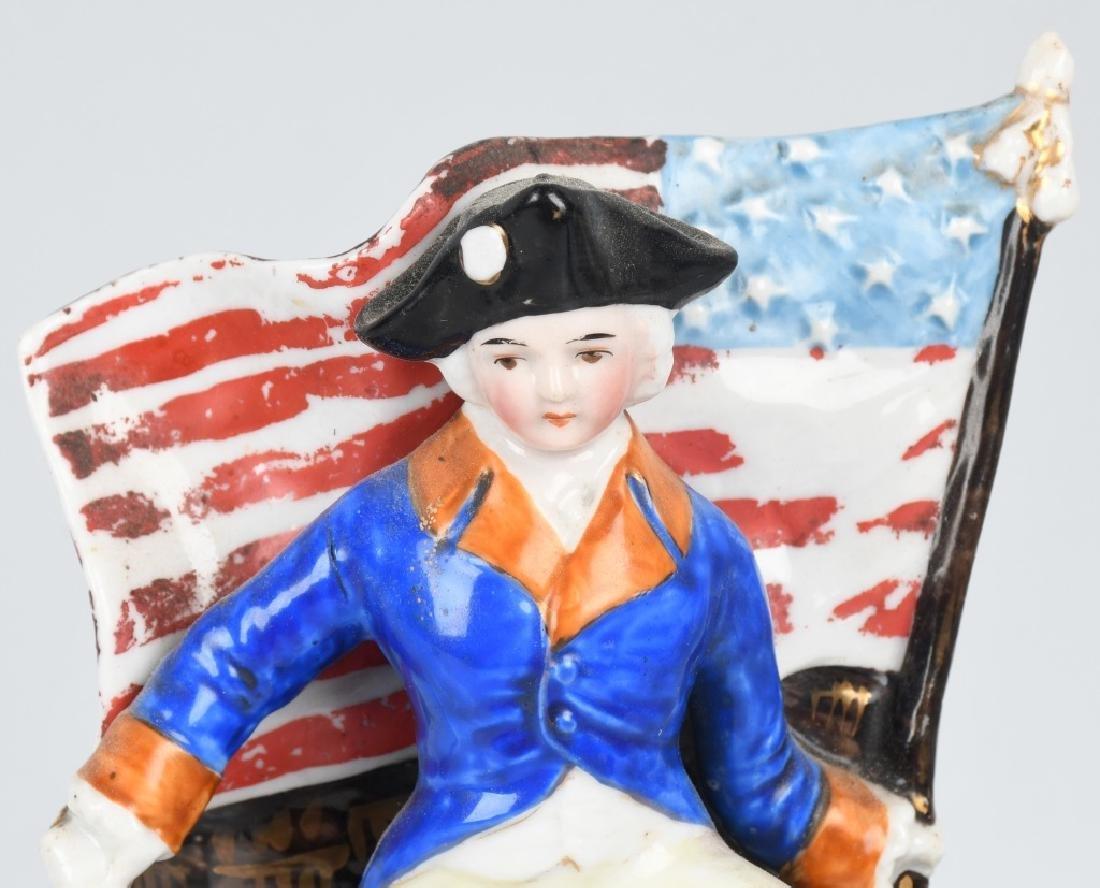 GEORGE WASHINGTON & FLAG MATCH HOLDER - 2