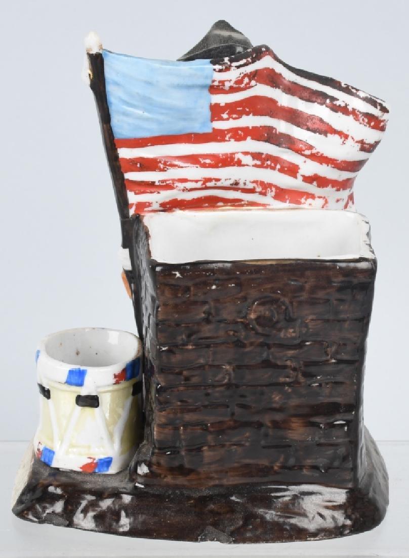 GEORGE WASHINGTON & FLAG MATCH HOLDER - 6