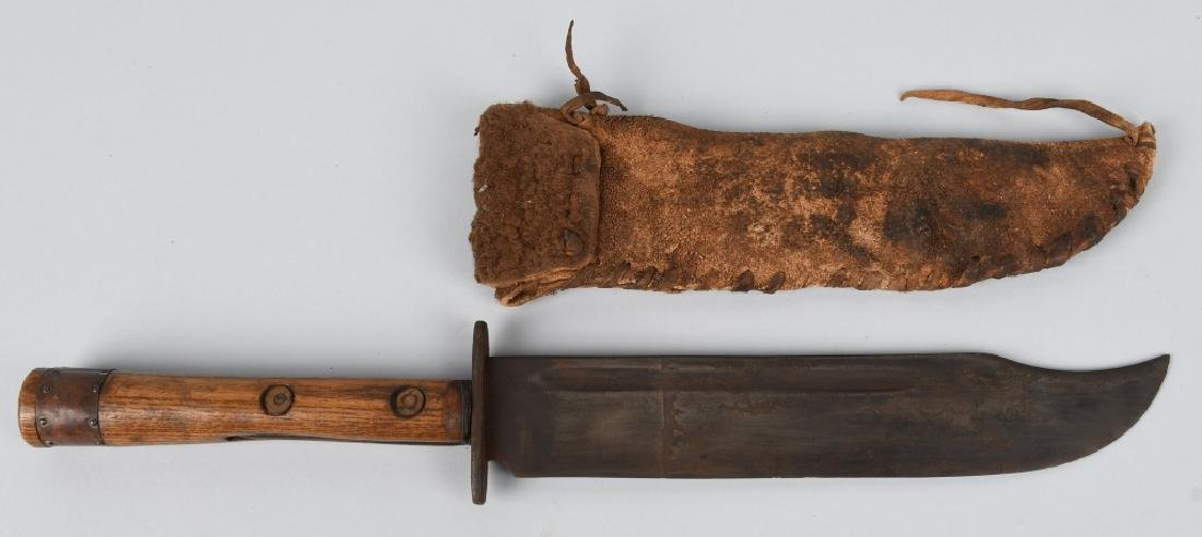 EARLY BOWIE KNIFE w/ inlay STAR ON HANDLE - 2