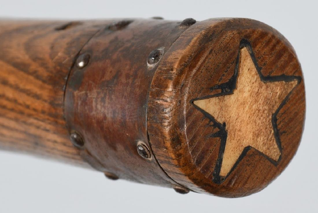 EARLY BOWIE KNIFE w/ inlay STAR ON HANDLE - 3